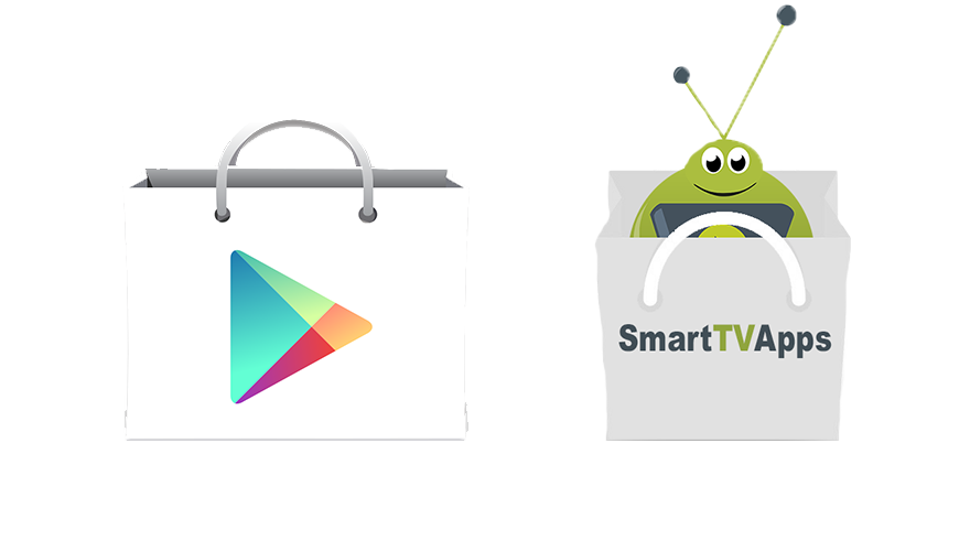 The SmartTVBox App Store works side by side with the Google Play Store